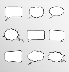 Set o comic style thought bubbles vector image