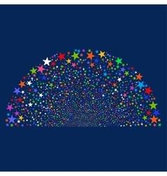 Sparkle star semisphere vector