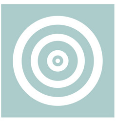 Target the white color icon vector