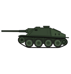 Vintage armored vehicle vector