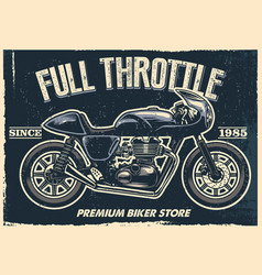 Vintage motorcycle poster texture is easy to vector