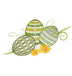 Filigree easter eggs vector