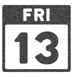 13 friday calendar page grainy texture icon vector