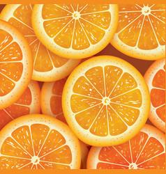Orange slice background for summer vector