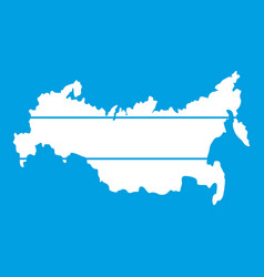 Map of russia icon white vector