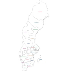 Outline sweden map vector