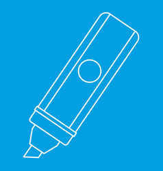 marker icon outline style vector image