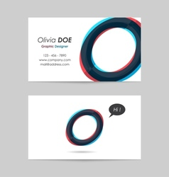 Business card template - letter o vector