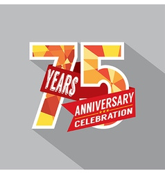 75th Years Anniversary Celebration Design vector image