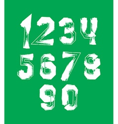 Creative handwritten over color numbers set from 0 vector