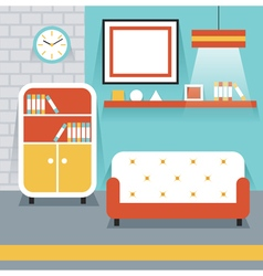Furniture display in room living room vector