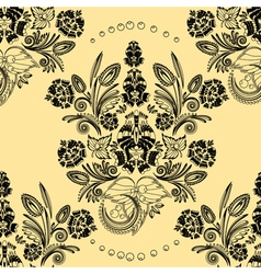 Pattern with floral ornament vector