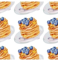 Watercolor pancakes vector
