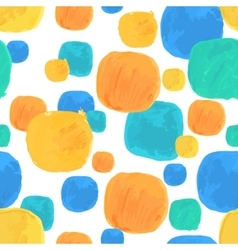 Watercolor seamless pattern with blue and vector