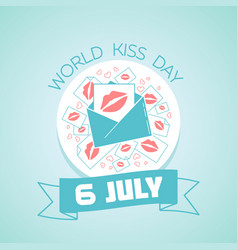 6 july international kissing day vector