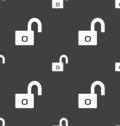 Lock sign icon locker symbol seamless pattern on a vector