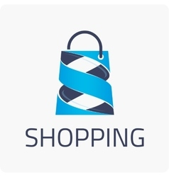 Template logo shopping vector