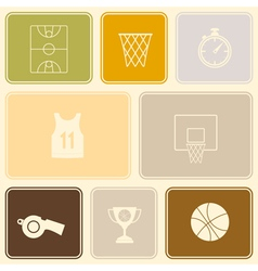 Seamless pattern with basketball icons vector