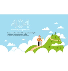 Error page with a mountain vector