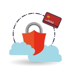 Data security design protect icon data center vector