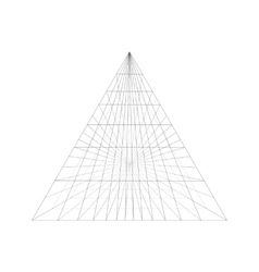 Pyramid construction in perspective isolated on vector