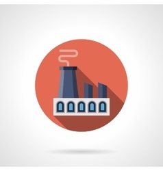 Heavy industry round flat icon vector