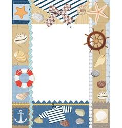 Marine photo frame vector image