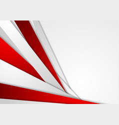 Abstract corporate red grey tech background vector