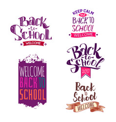 Back to school label set vector