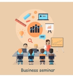 Business seminar succefull motivational managment vector