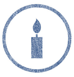 candle rounded fabric textured icon vector image