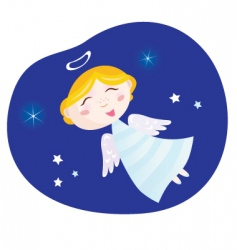 Christmas angel boy vector image