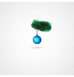 Christmas balls hanging on pine branch vector image vector image