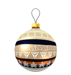 Christmas decoration made from tribal shapes vector