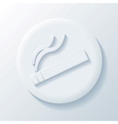 Cigarette 3D Paper Icon vector image vector image
