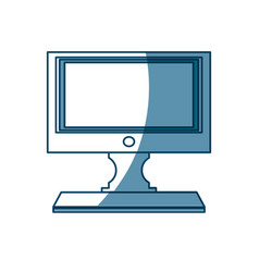 Computer conitor icon pc desktop display symbol vector