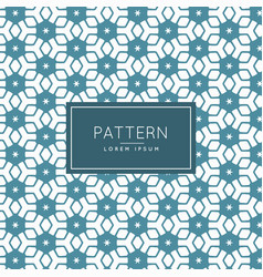 Hexagonal star pattern shape background vector