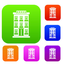 hotel building set collection vector image