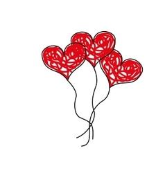 love toy ballon vector image