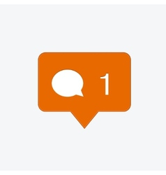 Modern comment orange icon vector