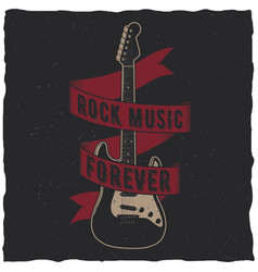 rock music forever poster vector image