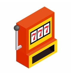 Slot machine jackpot isometric 3d icon vector image
