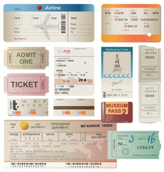 Tickets set vector
