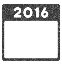 2016 year calendar template grainy texture icon vector