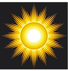 Sun on black background vector