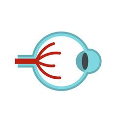 eye anatomy icon flat style vector image