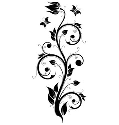 Floral design ornament vector