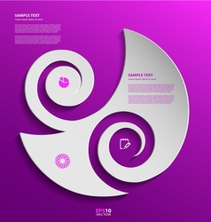 Stylized presentation option template vector