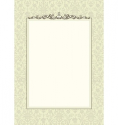 floral frame with ornament vector image