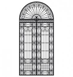 wrought iron portal vector image
